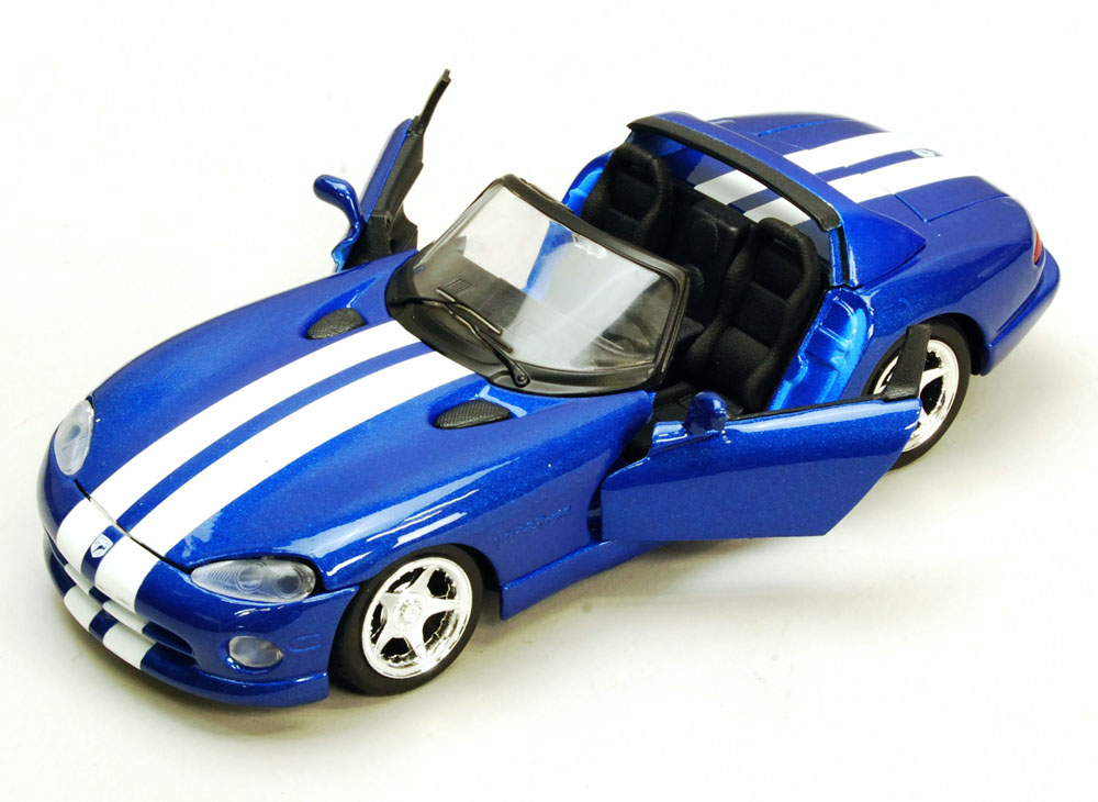 Dodge Viper Convertible, Blue White Maisto 34932 45 1 24 Scale Diecast Model Toy Car... by Maisto