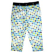 Sessions Edge Capri First Layer Ski Snowboard Pants Vivid Blue Dots Womens