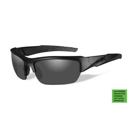 Wiley X CH4701 Grey/Clear Valor APEL Safety Glasses w/Black Frame & Storage Case