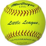 "(12 pack) MacGregor 11"" Yellow Little League Softballs"