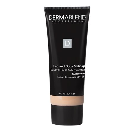 Leg Body Makeup (Dermablend - Leg and Body Makeup Buildable Liquid Body Foundation SPF 25 - Light Natural)