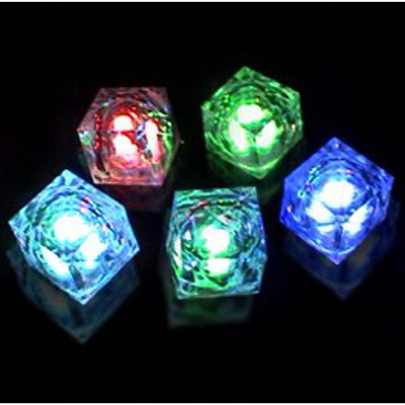 Led Icecubes (Multicolor 8-Function Freezable LED Light Up Ice Cubes, Lot of 8 cubes, By Flashing)