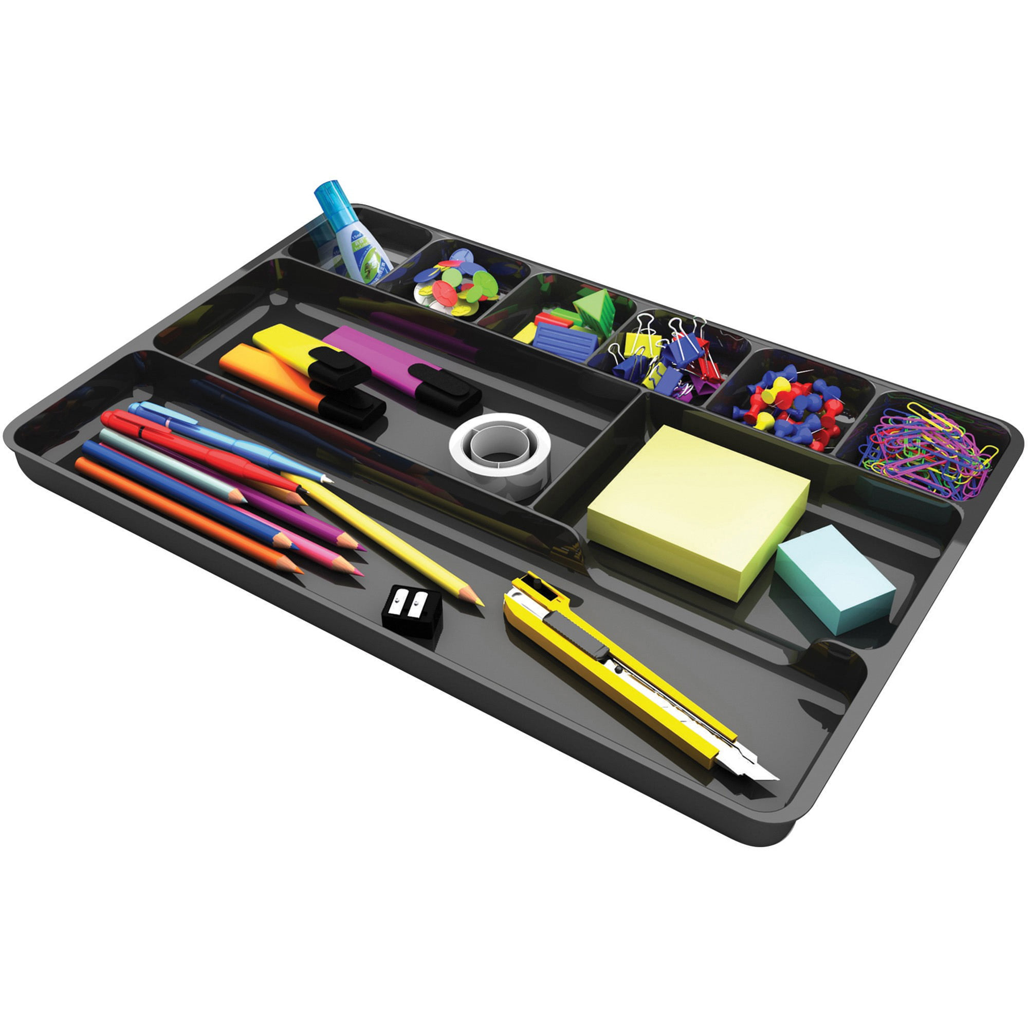 Deflect-O Plastic Desk Drawer Organizer by Deflecto Corporation