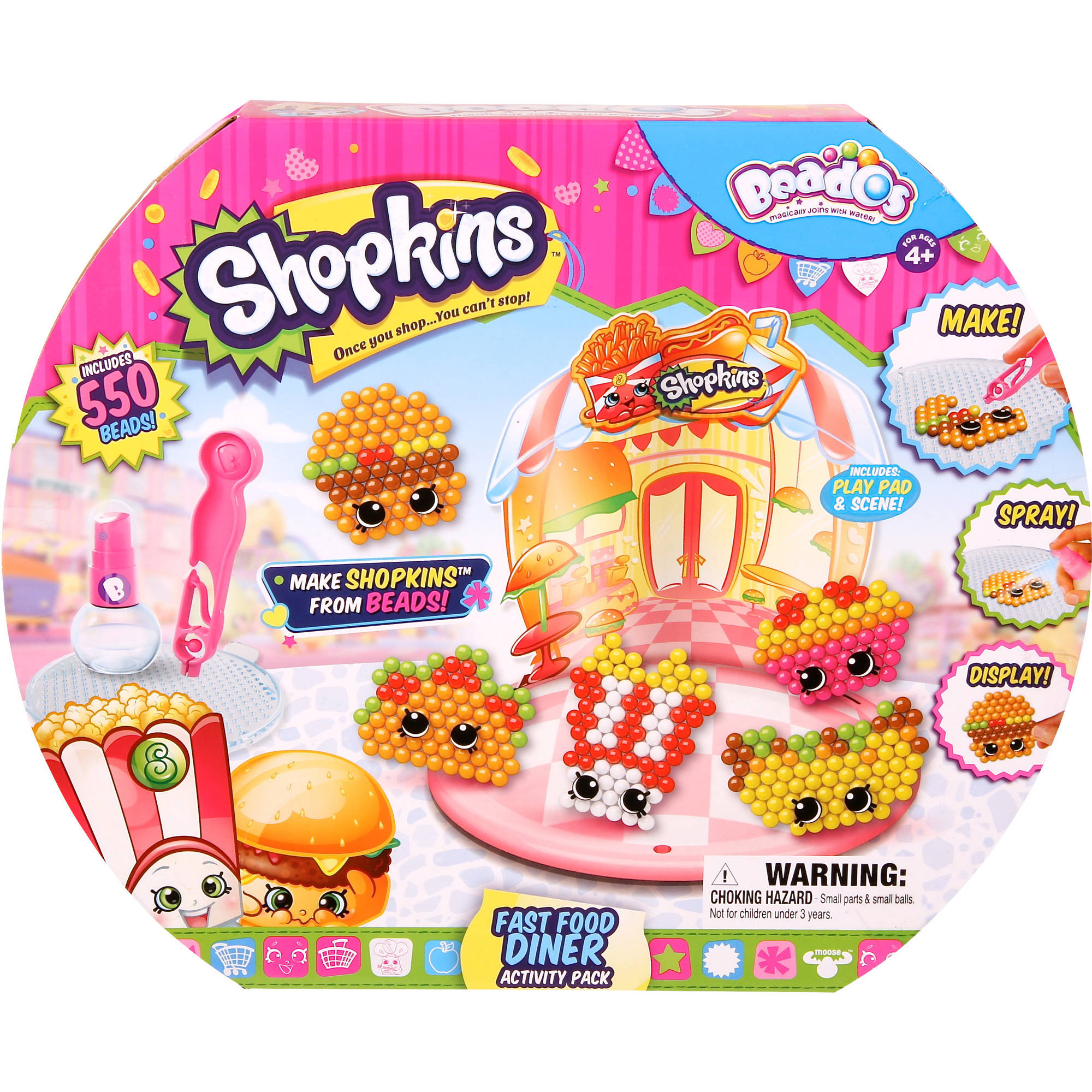 Moose Toys Beados Shopkins Season 3 Activity Pack, Fashion