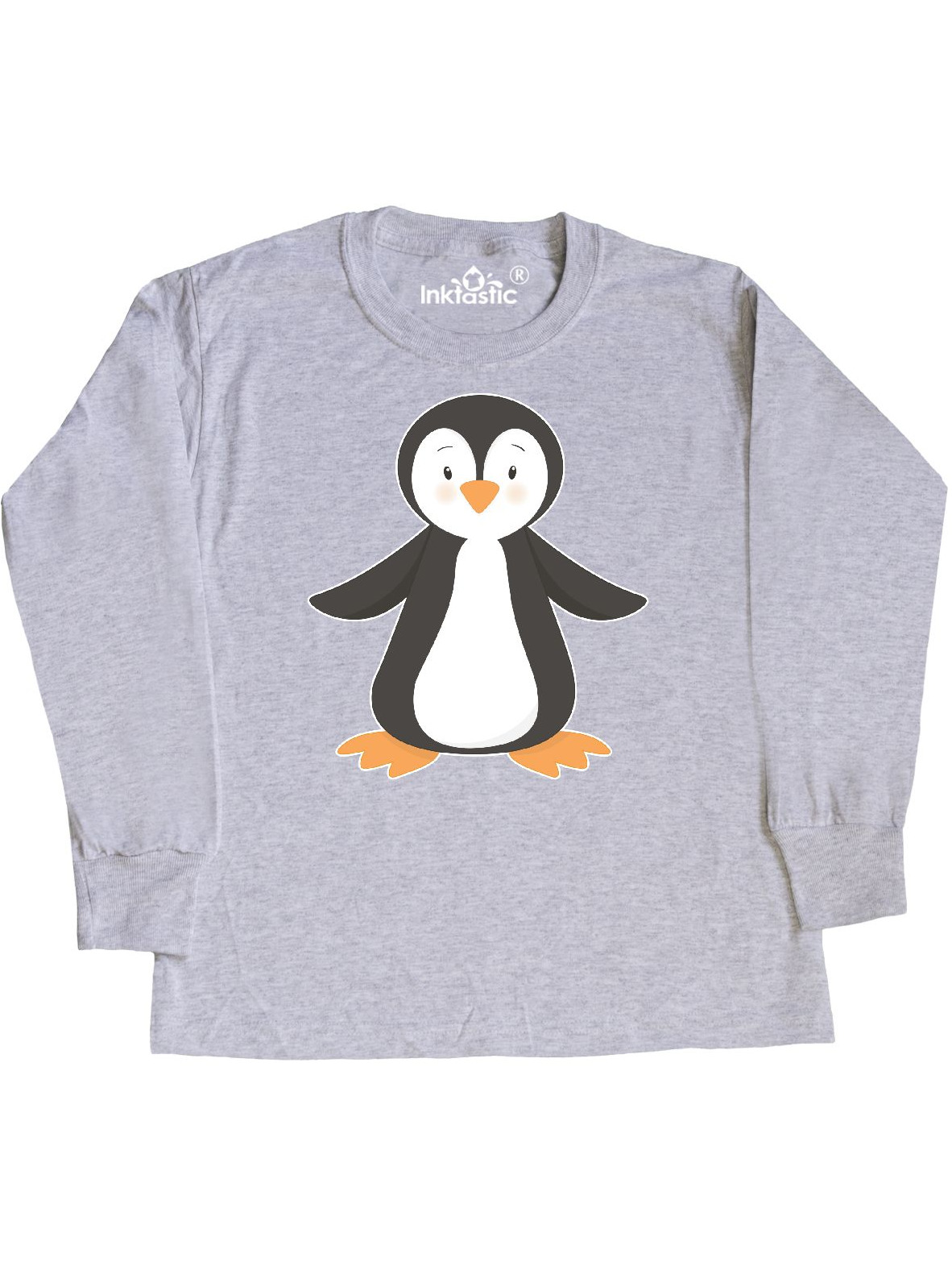 inktastic Penguin with Blue Top Hat Toddler Long Sleeve T-Shirt