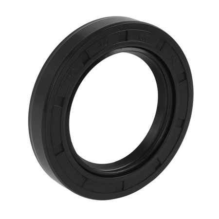 40mm x 60mm x 10mm Black Rubber Cover Double Lip TC Oil Shaft Seal for Car Vehicle Black Stained Shaft
