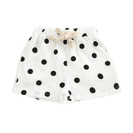 Funcee Casual Kid Unisex Polka Dot Printed Beach Shorts Korean Style ()
