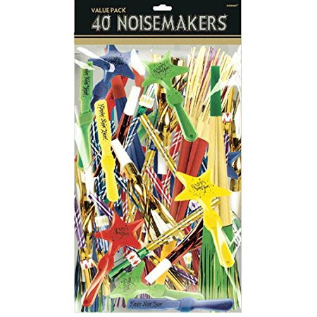 Amscan Fun Filled New Year Party Assorted Noisemakers Value Pack (40 Piece), 15