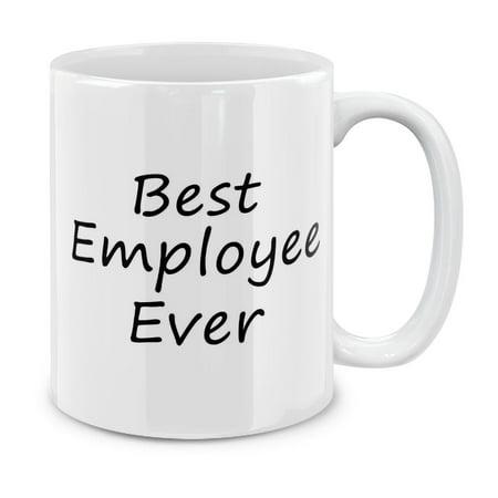 MUGBREW 11 Oz Ceramic Tea Cup Coffee Mug, Best Employee