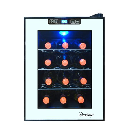 Vinotemp 12-Bottle Mirrored Thermoelectric Wine