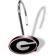 NCAA University of Georgia Shower Hooks, 12 Piece