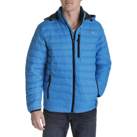 87f6e12ef Free Country Mens Down 2-In-1 Puffer Jacket Blue XL