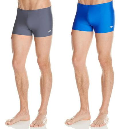 4f3701cdfe Speedo Men's Endurance Polyester Square Leg Brief Boxer Swim Shorts -  Walmart.com