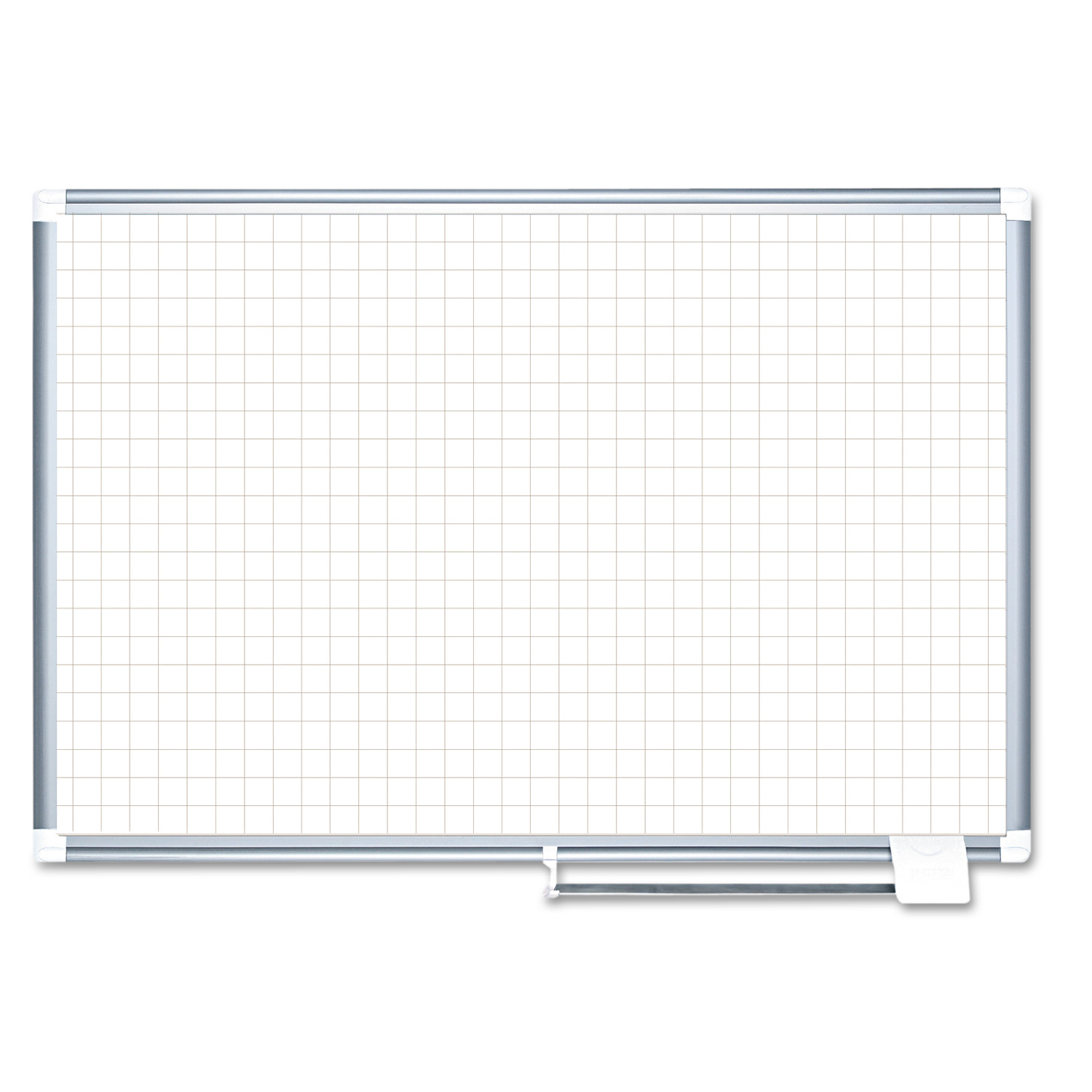 """MasterVision Planning Board, 1"""" Grid, 48x36, White/Silver"""
