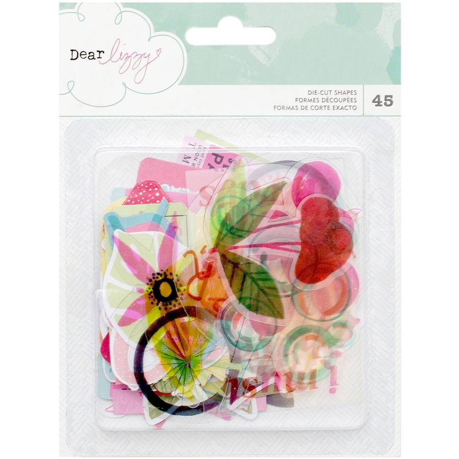 Dear Lizzy Happy Place Acetate and Cardstock Ephemera, 45pk