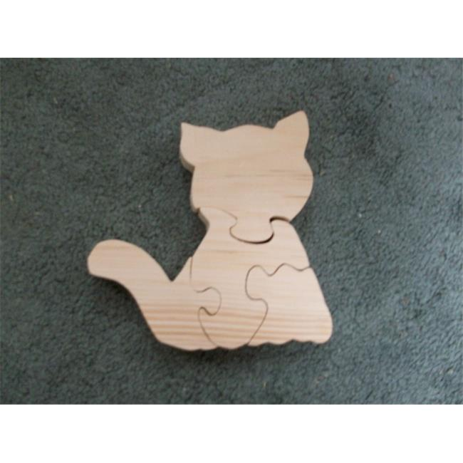 Fine Crafts 225ANI Wooden 4 piece Cat jigsaw puzzle