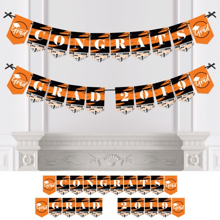 Orange Grad - Best is Yet to Come - Orange Graduation Bunting Banner - Party Decorations - CONGRATS GRAD - Graduation Party Decorations