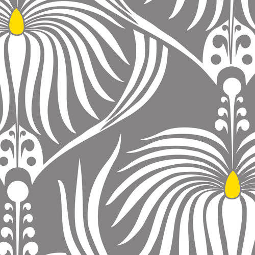 100% Cotton Fabric For Quilting And Crafting By Emma And Mila From The Design Studio Collection: Dahlia Grey