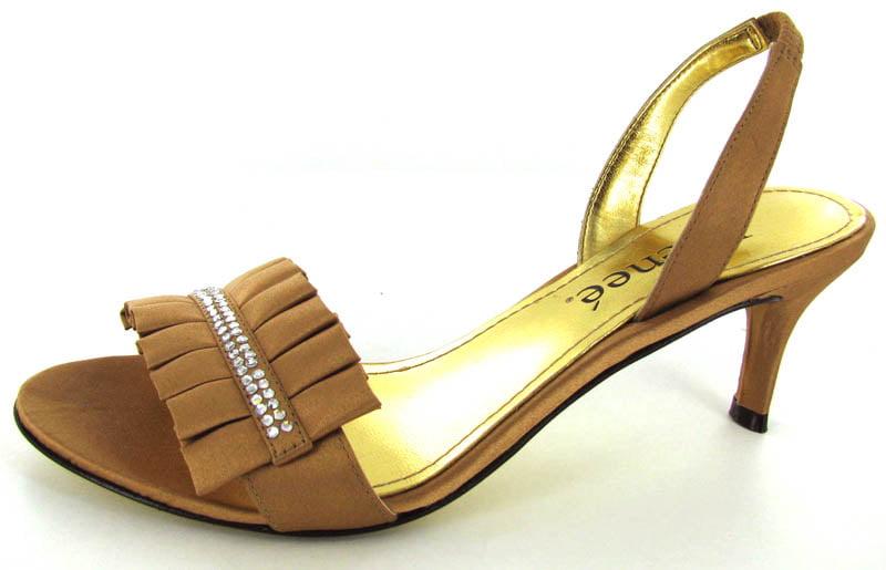 J. Renee Womens Zara Kitten Heel Sandal Pump Shoe by J. Renee