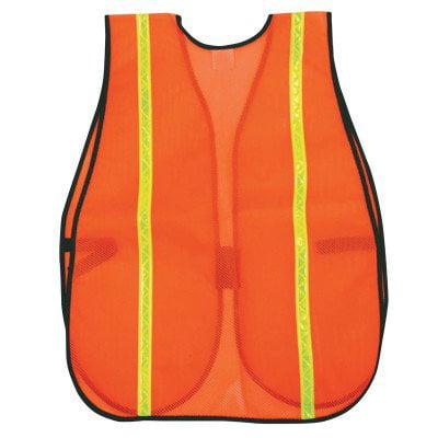 .10MM PVC SAFETY VEST 18X 27 FLUOR