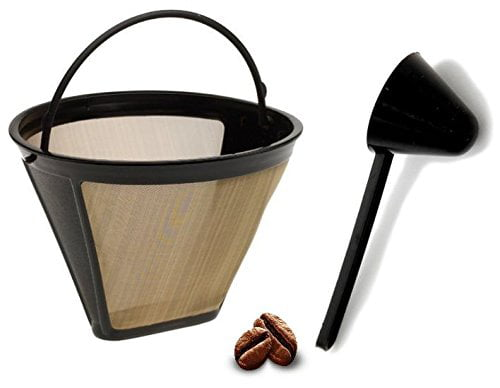 Replacement Permanent Coffee filter Cuisinart GTF Gold Tone Filter for DCC-3200 with Large Coffee Scoop by