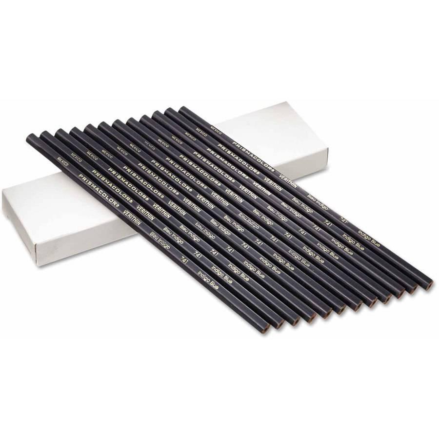 Prismacolor Premier Verithin Pencil, Indigo Blue Barrel, 1 Dozen