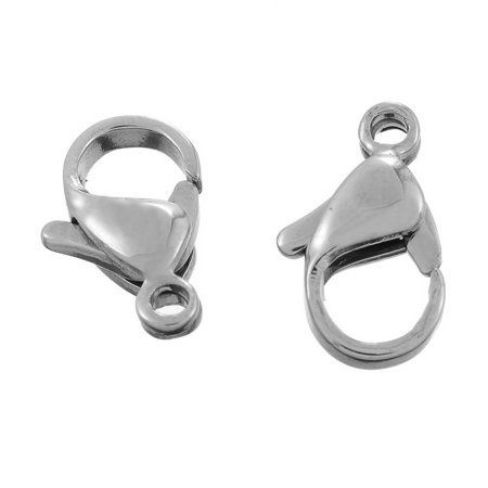 Wholesale Beading Supplies (10pcs Wholesale 316L Stainless Steel Lobster Claw Clasp Findings Supplies)