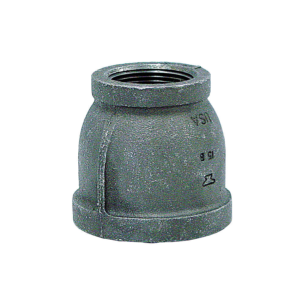 """Galvanized Steel Reducer,  3/4"""" x 1/8"""" Pipe Size,  FNPT Connection Type"""