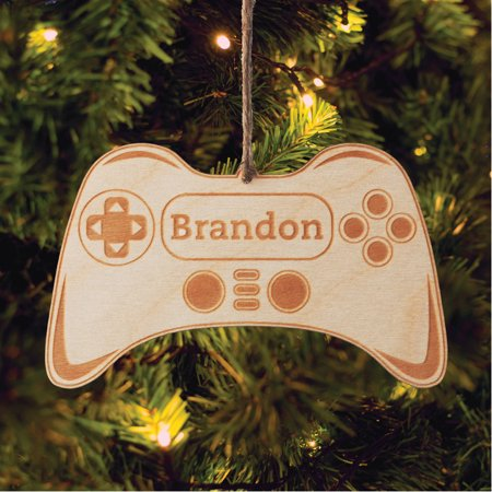 Cheap Personalized Christmas Ornaments (Video Gamer Personalized Wood Christmas)