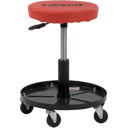 Pro-Lift C-3001 Pneumatic Chair with 300 lbs Capacity, Black / Red