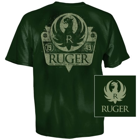 Ruger Shield T-Shirt (XL)- Forest Green Collection Forest Green T-shirt