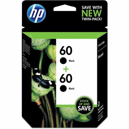 HP 60 2-pack Black Original Ink Cartridges (Single Pack) 60 Twin Pack Ink Cartridge ()