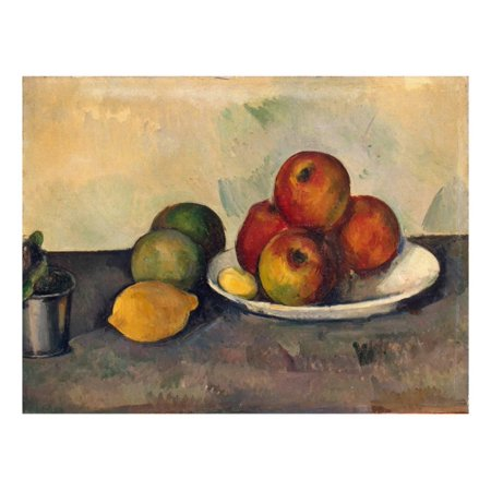 Still Life with Apples, C.1890 Fruit Post-Impressionist Painting Print Wall Art By Paul Cézanne