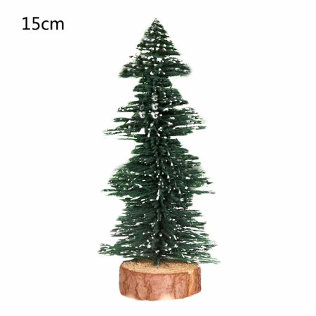 5.9ft Mini Cedar Christmas Tree in Faux Wood Base