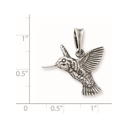 dcaad6545 925 Sterling Silver Hummingbird (23x25mm) Pendant / Charm - image 1 of 2 ...