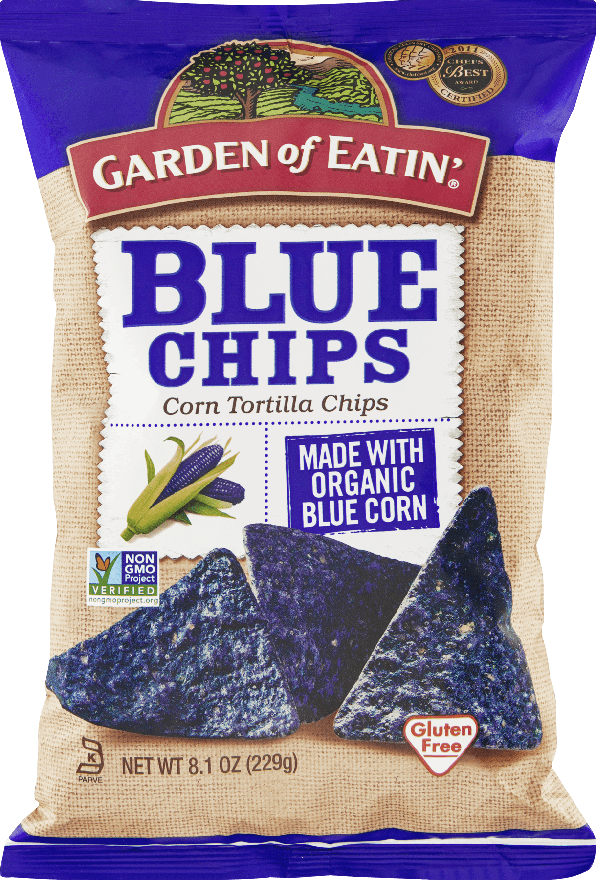 Garden of Eatin Corn Tortilla Chips Blue Chips 8 1 OZ Walmart