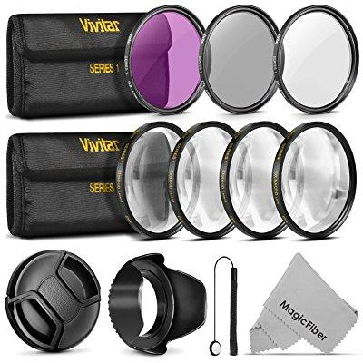 Canon 67mm vivitar professional uv cpl fld lens filter an...