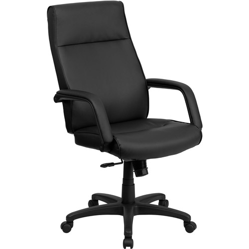 flash furniture high back leather executive office chair with