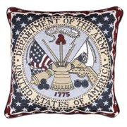 Simply Home U.S. Army Decorative Tapestry Throw Pillow