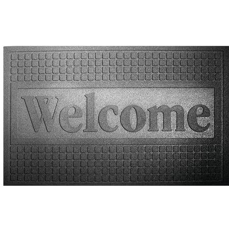 Lanart Deco Tend Functional Scraper Door Mat, 30 in L X 18 in W X 1/4 in T, Recycled -