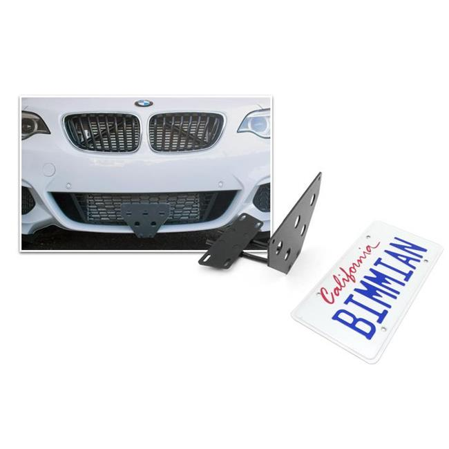 Bimmian QLB30TBYY Quick Release License Plate Bracket For BMW F30 M-Sport Bumper
