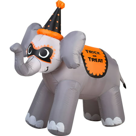 gemmy airblown inflatable 35 x 35 trick or treat elephant halloween decoration