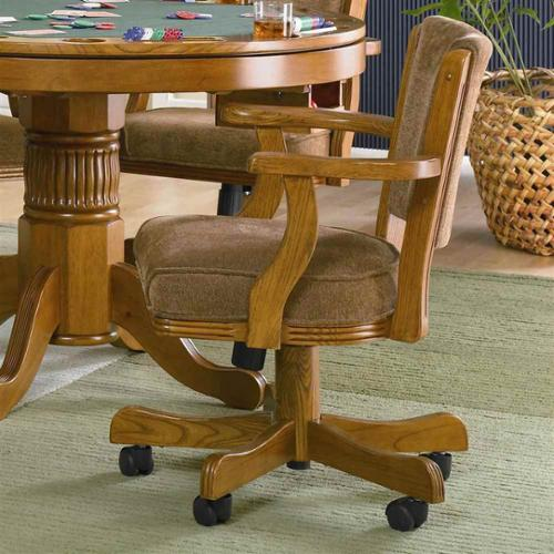 Mitchell Game Chair in Oak Finish