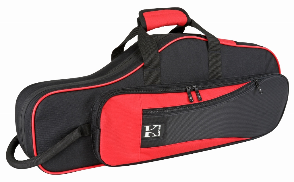 Kaces KBO-ASRD Lightweight Hardshell Alto Sax Case, Red by Kaces