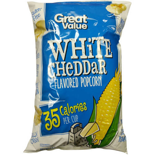 Great Value White Cheddar Flavored Popcorn, 6.5 oz by WAL-MART STORES INC