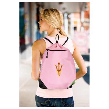 Cute Arizona State Cinch Pack Backpack for Girls Women Two Section Mesh & Microfiber ASU Drawstring Bag