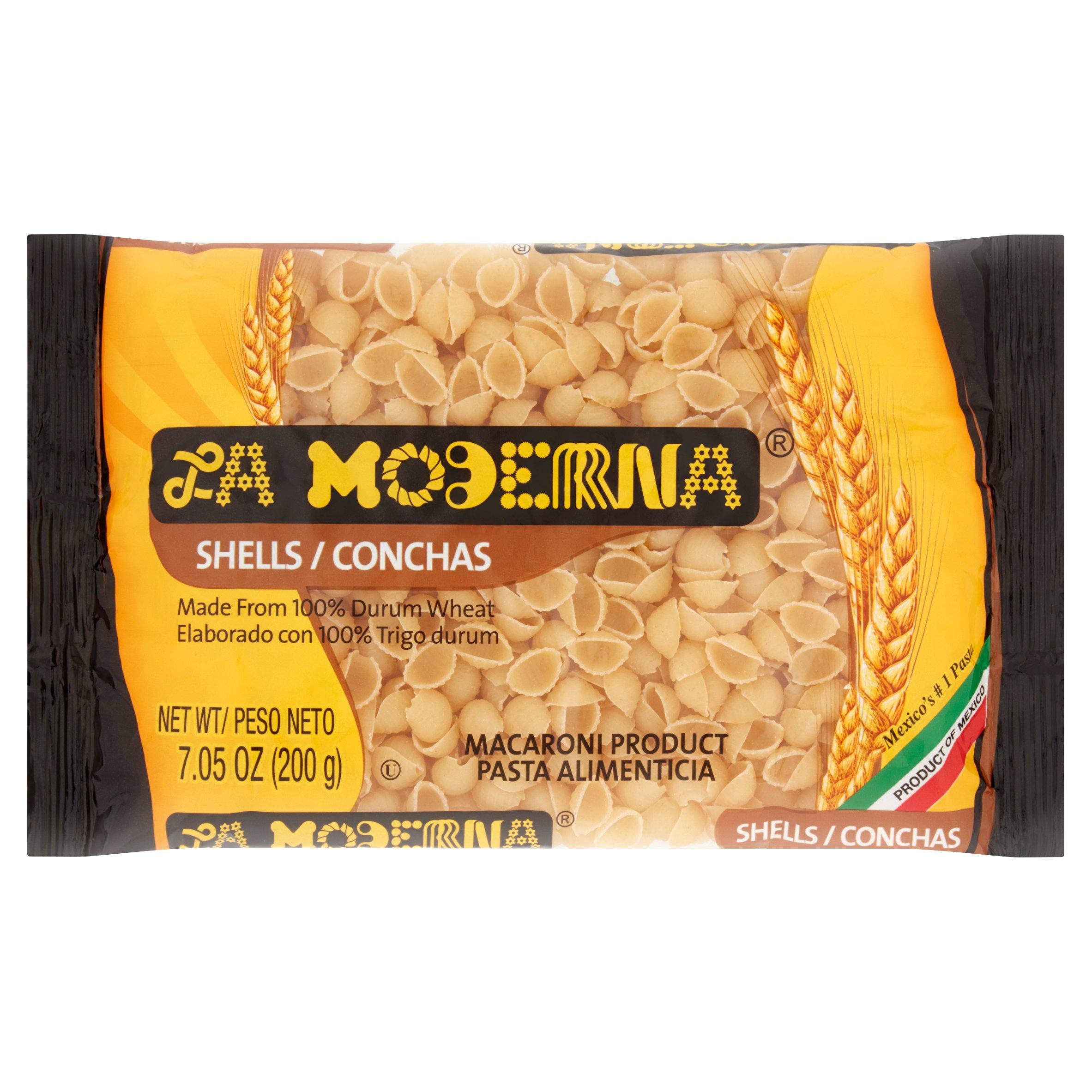 (5 Pack) La Moderna Shells Macaroni Pasta, 7.05 oz