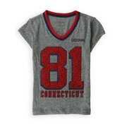 Justice Girls University Of Connecticut Graphic T-Shirt, grey, 6