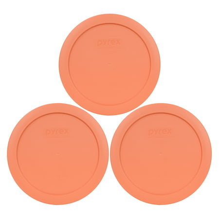 Vintage Pyrex Green (Pyrex Replacement Lid 7201-PC Bahama Sunset Light Orange Cover (3-Pack) for Pyrex 7201 4-Cup Bowl (Sold)