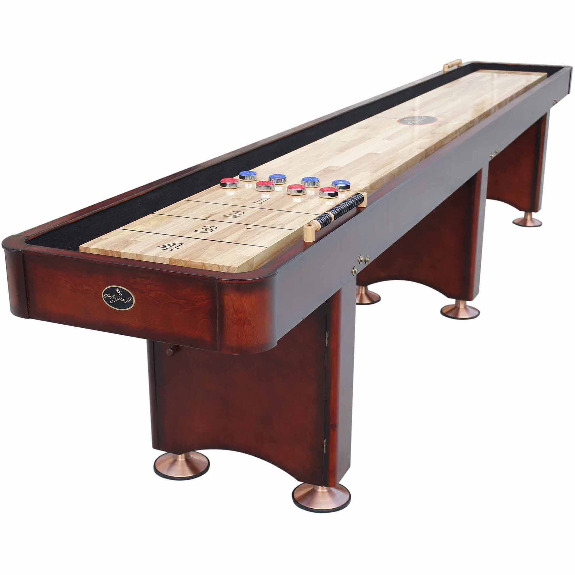hand class luxury woodworks crafted longhorn shuffleboard by longhornwoodworks custom table made